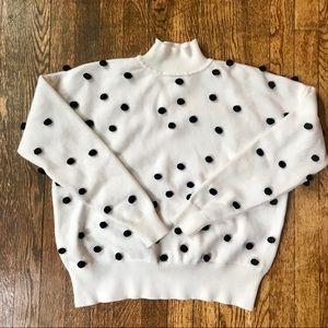 LPA Sweaters - Revolve LPA Teza sweater in cream polka dot knit